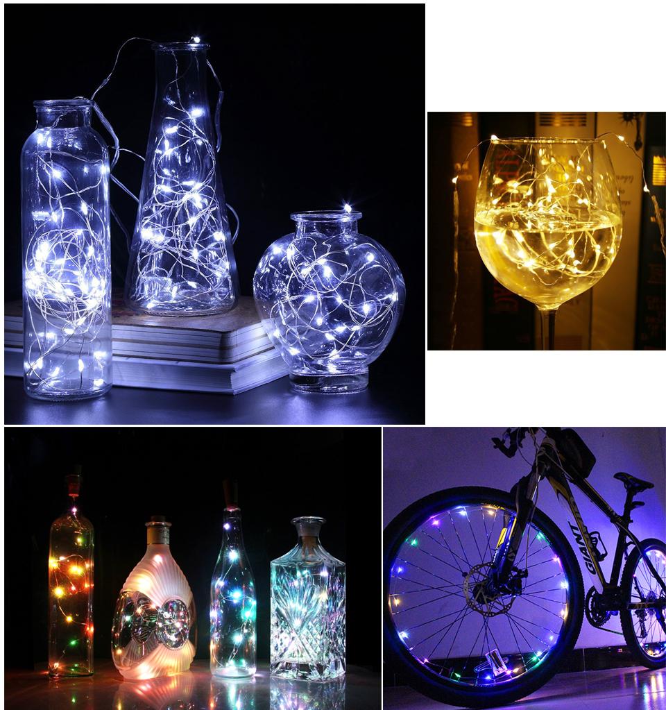Malitai 5m 50 Led Xmas Garland Party Wedding Decor Christmas Flasher Strip Fairy Lights Holiday Light