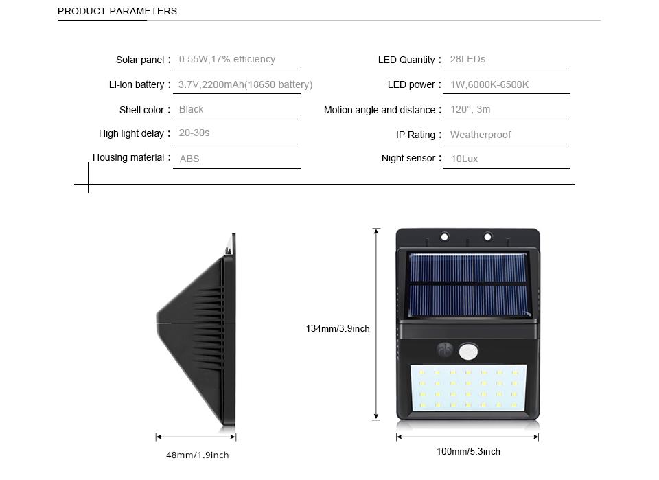 Pir Motion Sensor 3modes Separable Led Solar Light Novelty