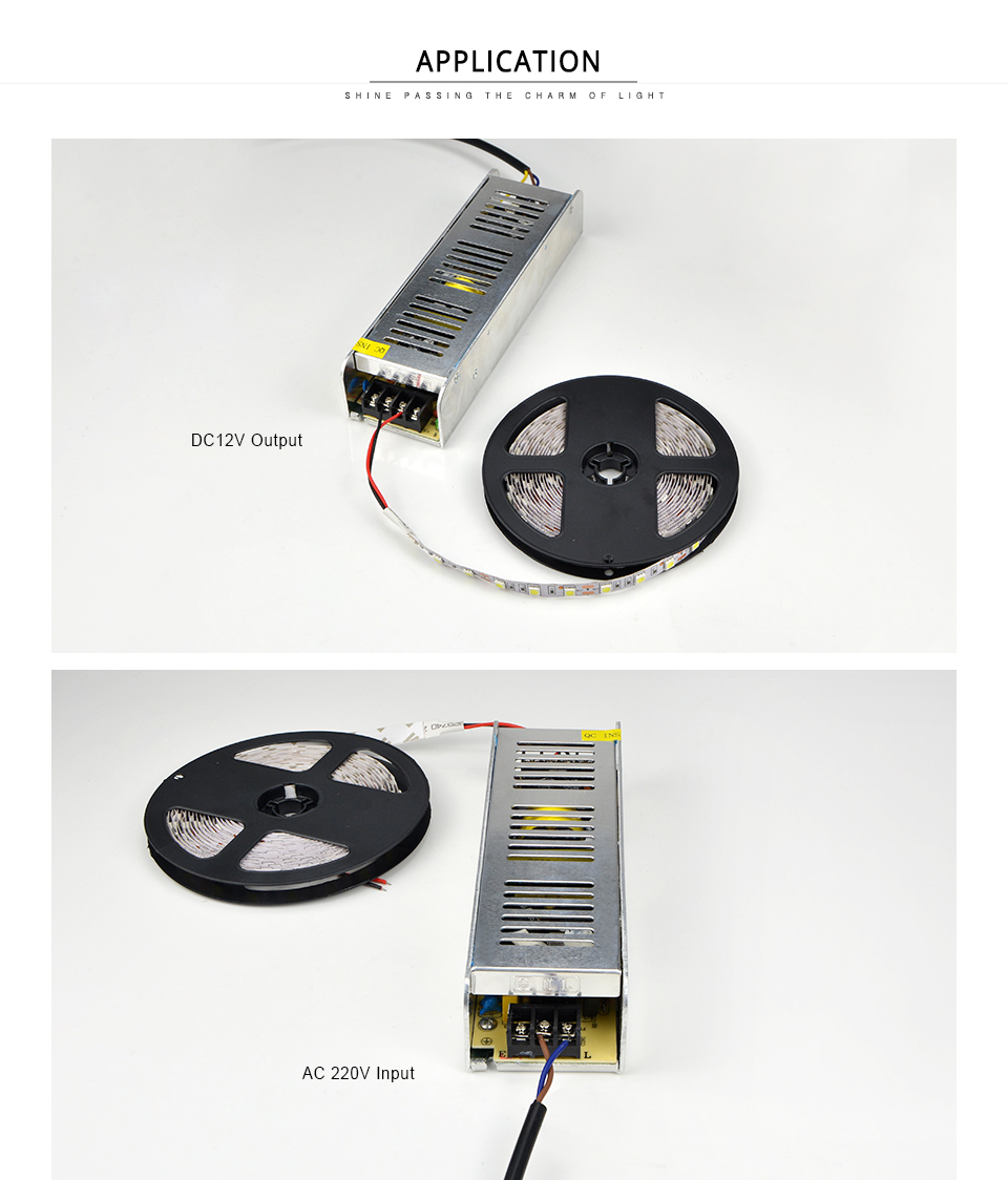 220V To 12V Lighting Transformer LED Power Supply Adapter 120W 150W 180W 200W 240W 360W LED Driver Switching for LED strip light