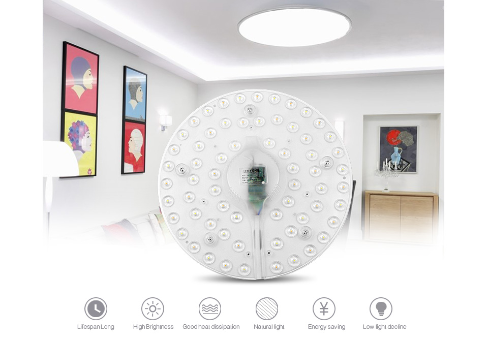 220V 230V 240V 24W 32W Dimmable LED Ceiling light Source Module 3 Color LED lamp Plate Replace 40W 50W CFL Fluorescent Tube Bulb