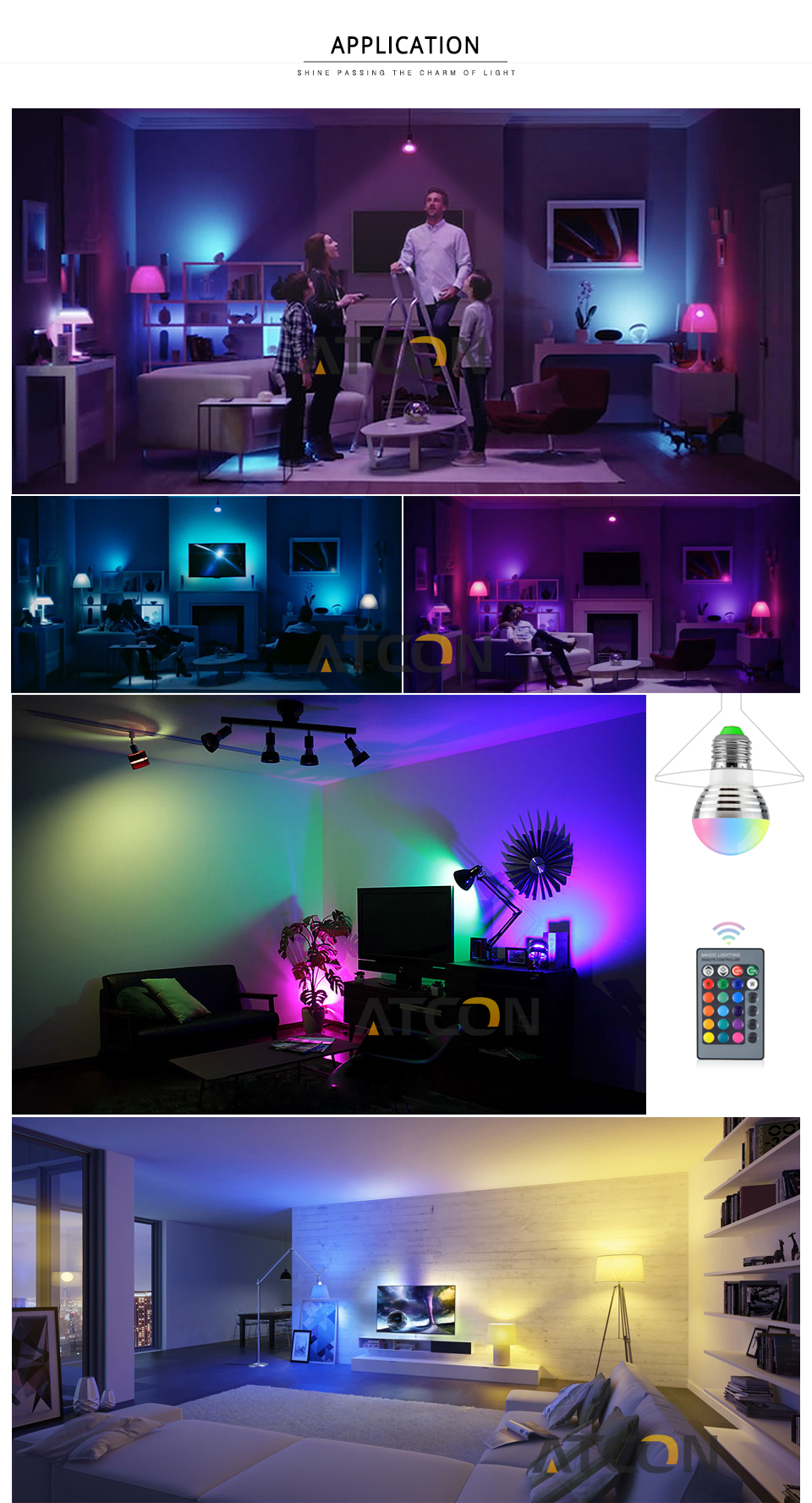 85 265V RGB DMX LED stage light E27 3W RGB LED Bulb KTV Bar Disco Party Lamp for Holiday Dance Decoration Crystal Ball led Light