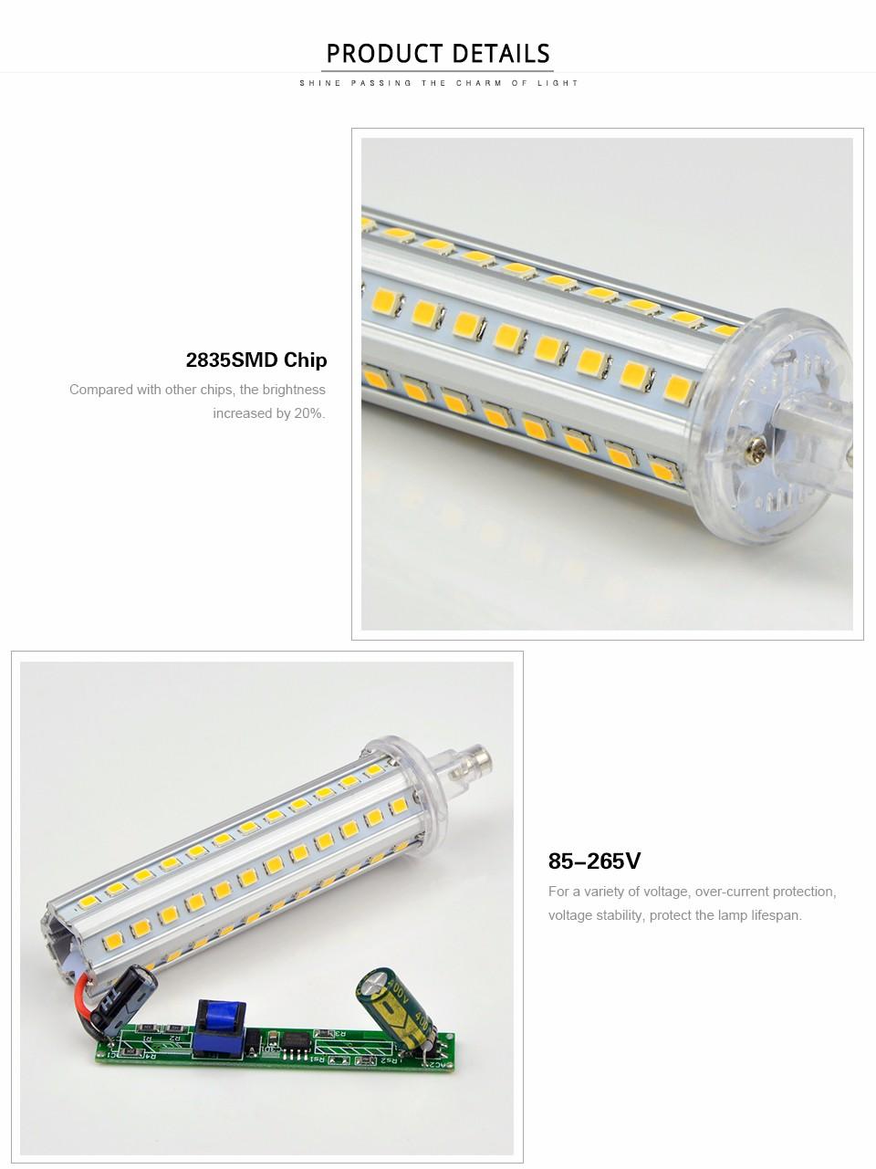 85 265v 5w 10w 12w 15w R7s Led Lawn Lamp 220v 110v Led Flood Light Smd 2835 78mm 118mm 135mm
