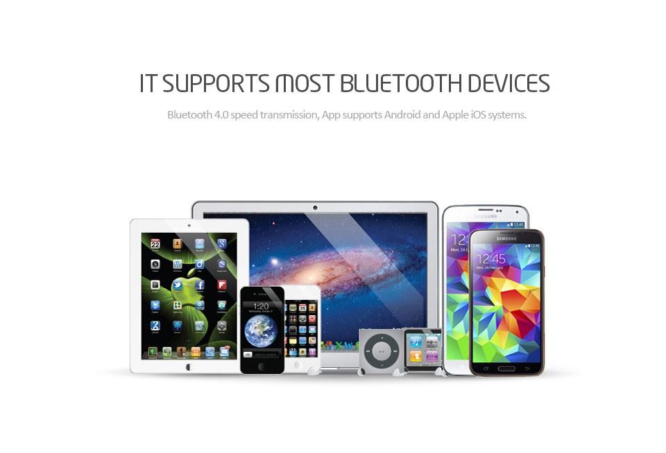 Dimmable Smart RGBW LED lamp 4 5W E27 AC 85V-265V Bluetooth 4 0 APP