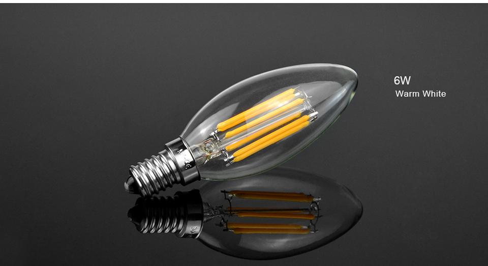 220v 110v E14 2w 4w 6w Led Night Light Edison Retro Candle