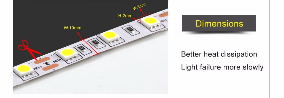 5M RGB DC12V 60LEDs M 5050 SMD LED Strip light 3A DC 12V Power Adapter 44 Keys Remote Controller tape lamp Lampada
