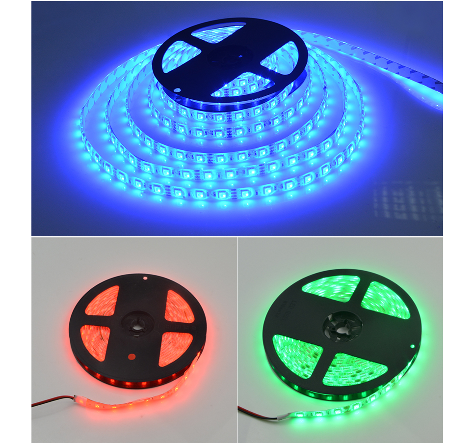 Outdoor 12 Volt 60leds Meter Led Strip Smd 5050 Rgb: IP65 Waterproof RGB LED Strip Light 2835 5630 5050 SMD 5m