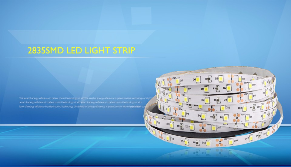 5m 12V 2835 3528 SMD led strip light 60led m IP20 not waterproof IP65 waterproof flexible led rope tape ribbon string lamp