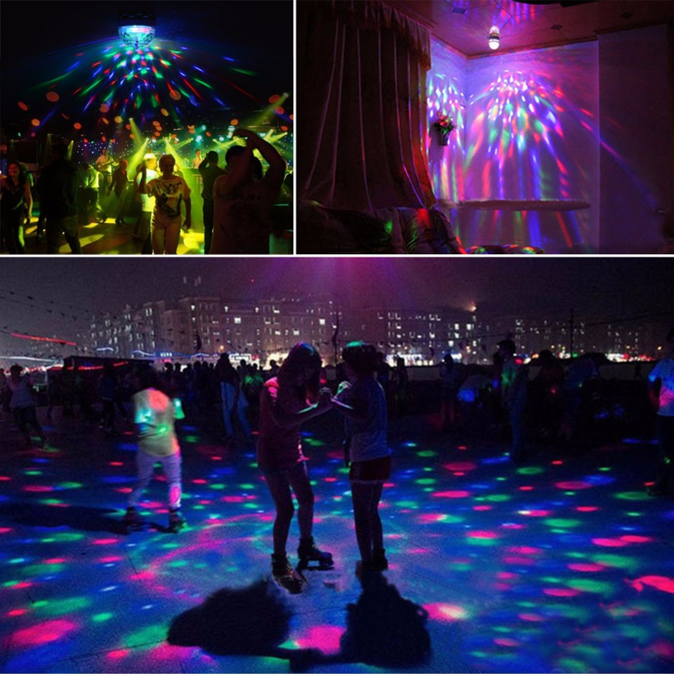 85 265V 110V 220V E27 3W Stage RGB LED Light Auto Rotating Holiday Lamp Laser Disco Party Holiday Dance bulb Christmas Lighting