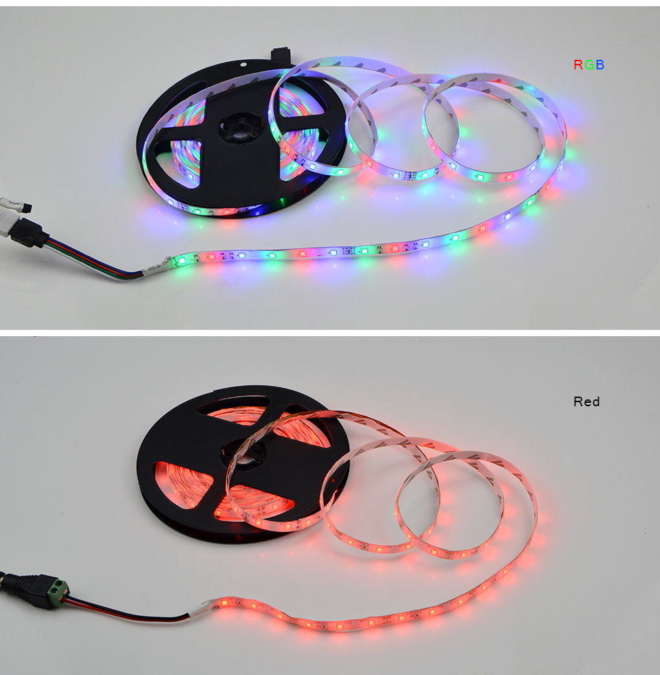 Ip65 Waterproof Rgb Led Strip Light 2835 5630 5050 Smd 5m
