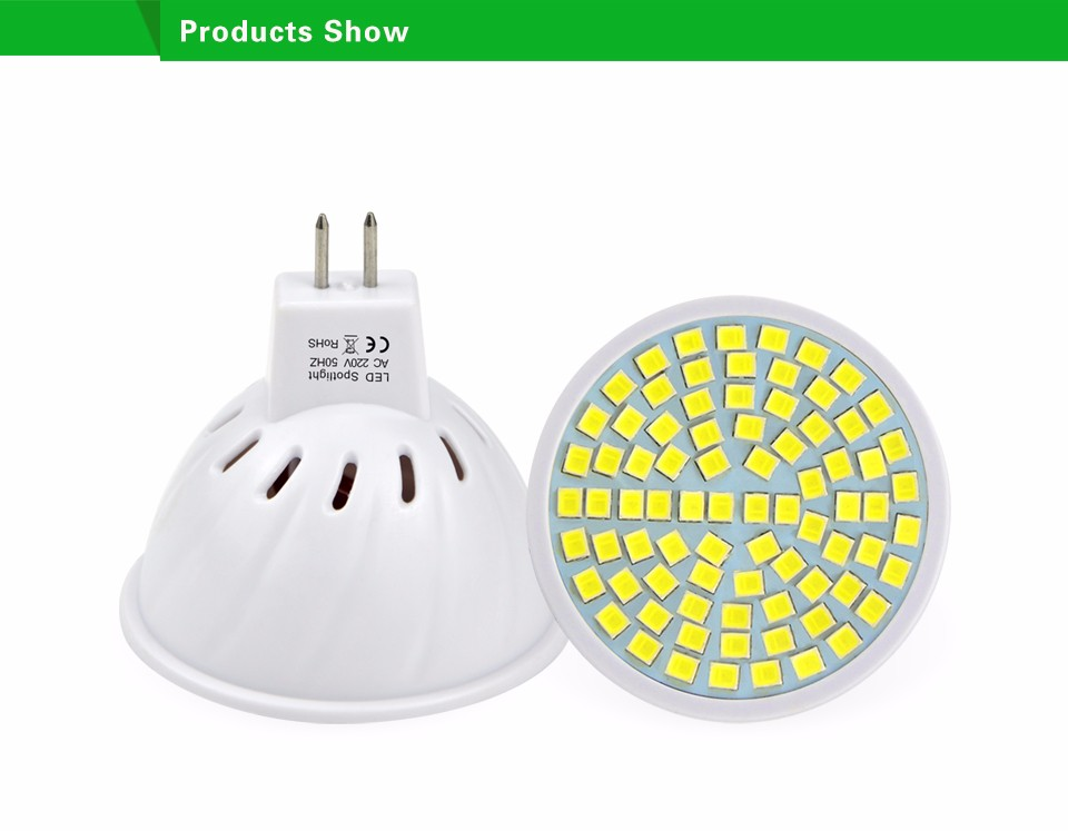 80LEDs 220V SMD 2835 MR16 6W LED lamp Spotlight Bulb Wall Downlight led corn light For Indoor lighting Replace CFL 5W 7W 10W 15W