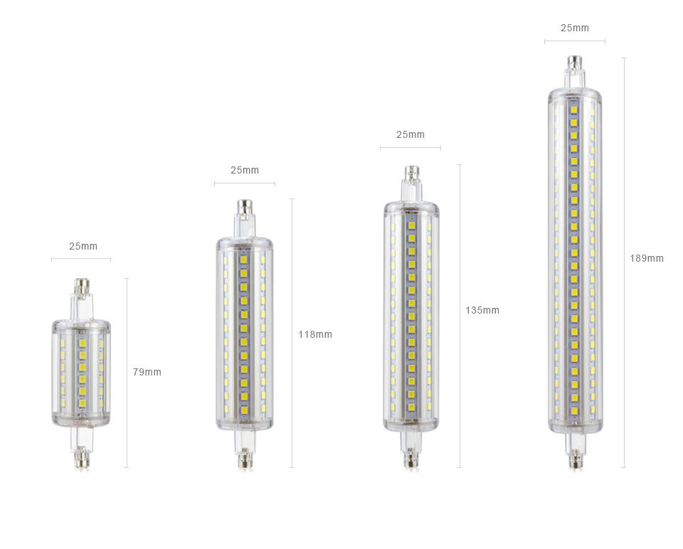 5w 10w 15w 20w r7s led light bulb 78mm 118mm 135mm 189mm for Led r7s 78mm 20w