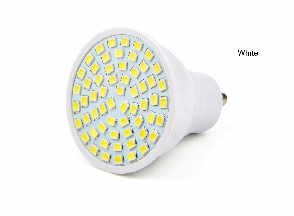GU10 5W LED lamp Bulb 220V 230V 240V 2835 SMD 60 LEDs Spot light Bulb For Kitchen Hallway living Room lighting