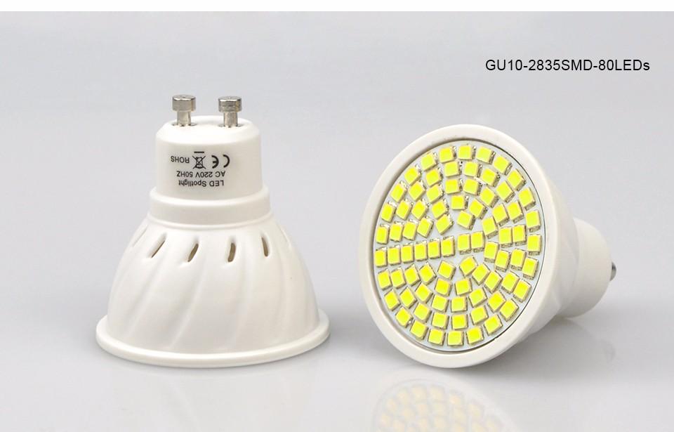 New Ac 220v Gu10 2835 5730 Smd Led Corn Spotlight Bulb 27