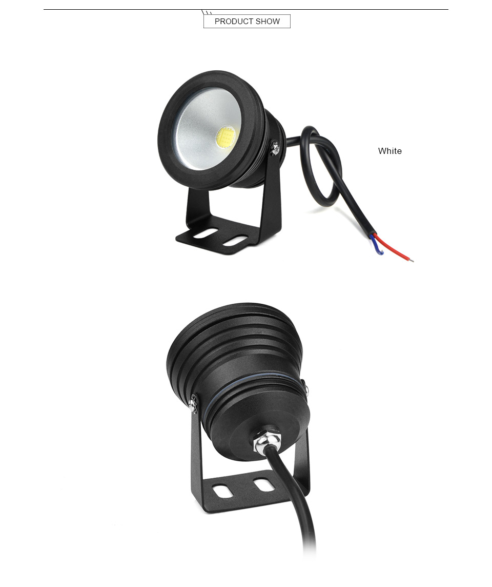 10W AC 12V LED Underwater light Fountain Lamp Car light Pool Fish Tank Piscina Pond Spotlight Outdoor Floodlight Landscape lamp