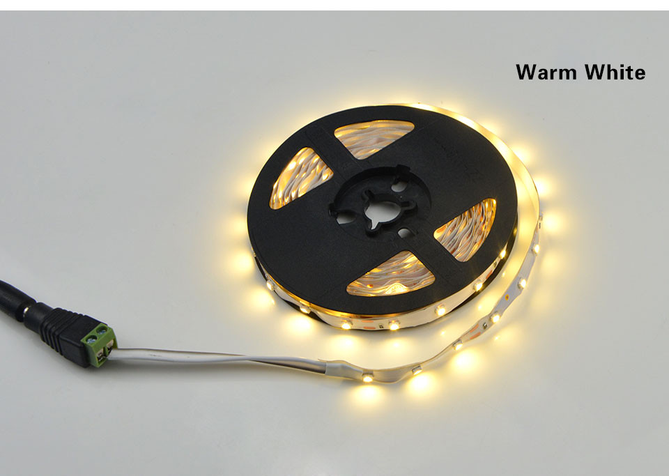 5colors 5m 300LEDs DC 12V IP20 2835 SMD LED strip Light DC female More Brighter Than 3528 3014 SMD for indoor outdoor lighting