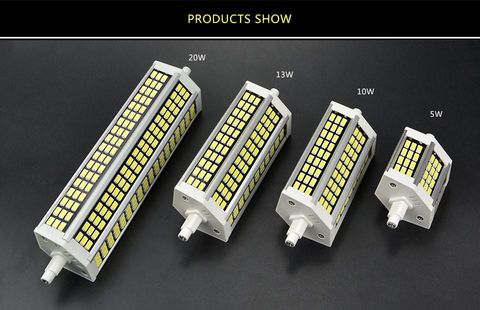 220v 5w 10w 13w 20w 78mm 118mm 135 189mm high lumen smd 5736 led r7s horizontal plug light for R7s led 118mm 20w