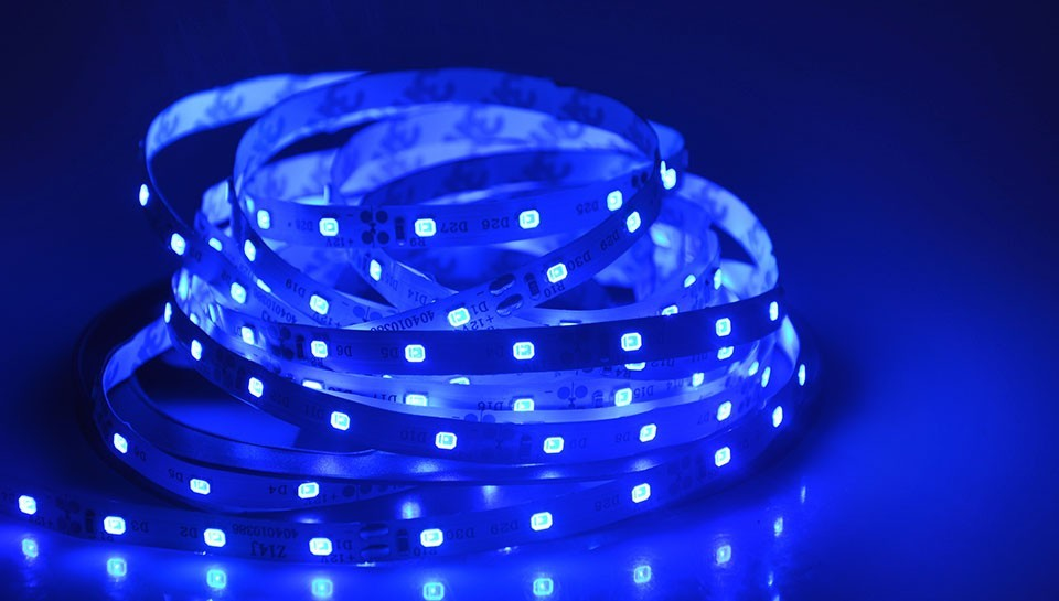 For christmas outdoor 5m DC12V 2835 SMD no waterproof RGB LED Strip Light String Ribbon lamp More Brighter than 3528 3014
