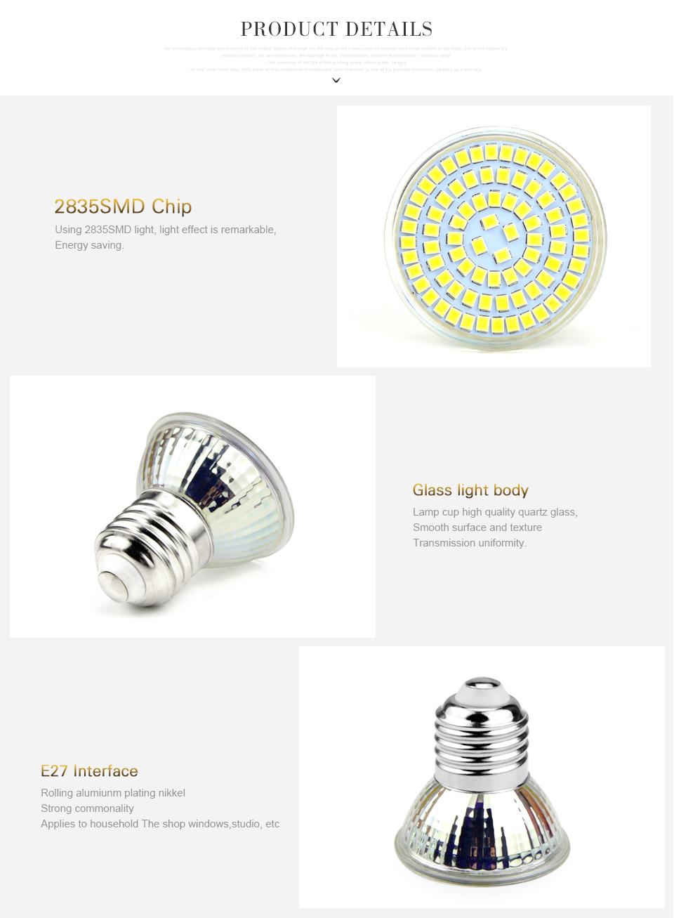 10pcs E27 Led Spotlight Ac 220v 5w 7w 9w Led Bulb Lamp 40