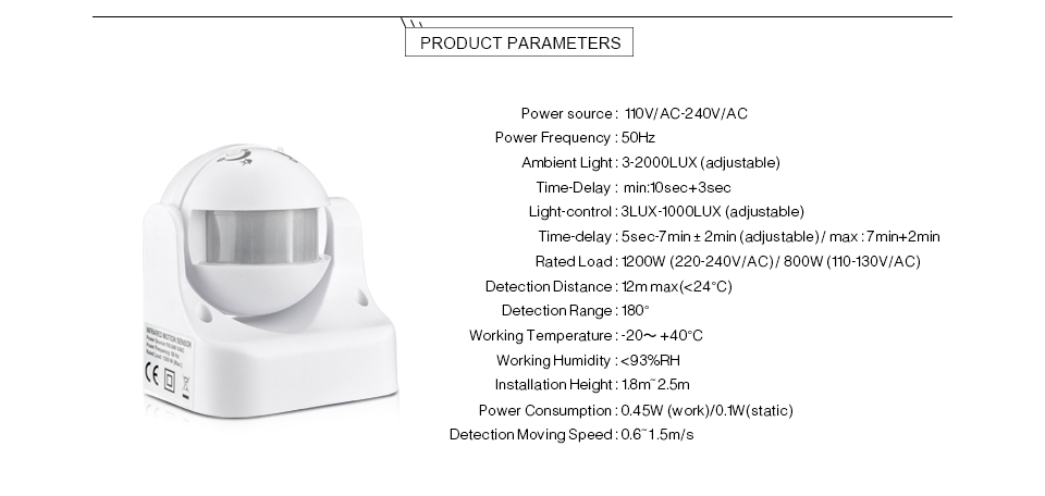 diy pir infrared motion sensor switch smart security led