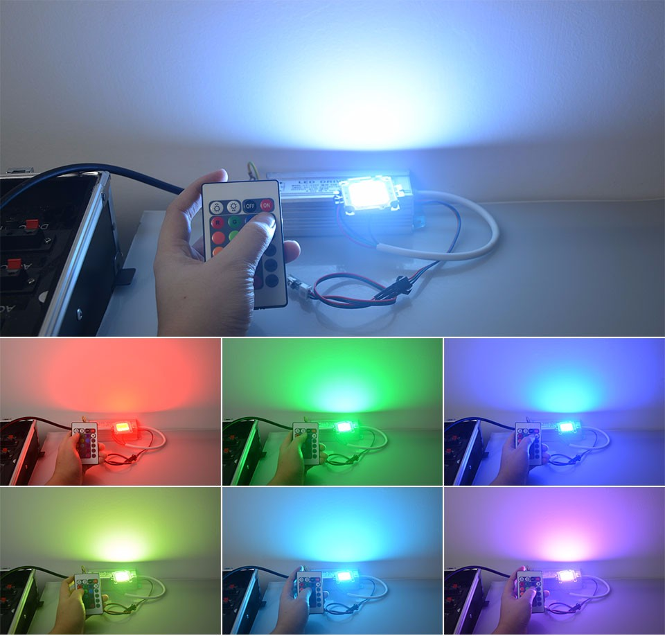 1x 20w 30w 50w Rgb Led Lamp Beads Integrated Chip For Diy