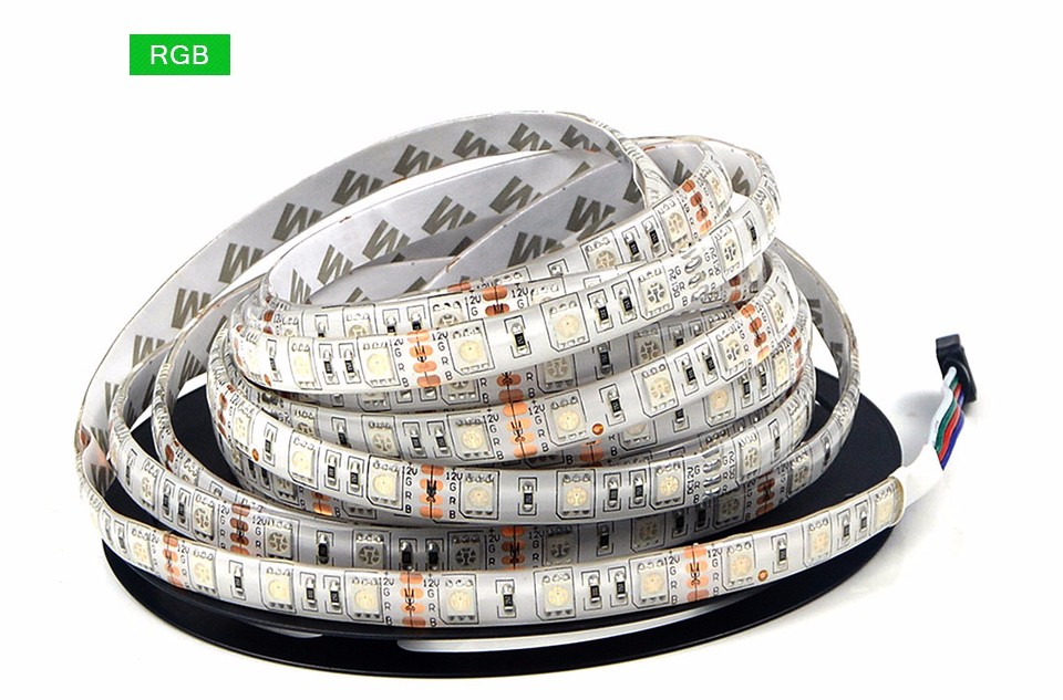 5M Flexible LED Strip Light 5050 SMD lamp Tape RGB 24Key Controller DC 12V 3A Adapter For DIY Decor Party Holiday Festival