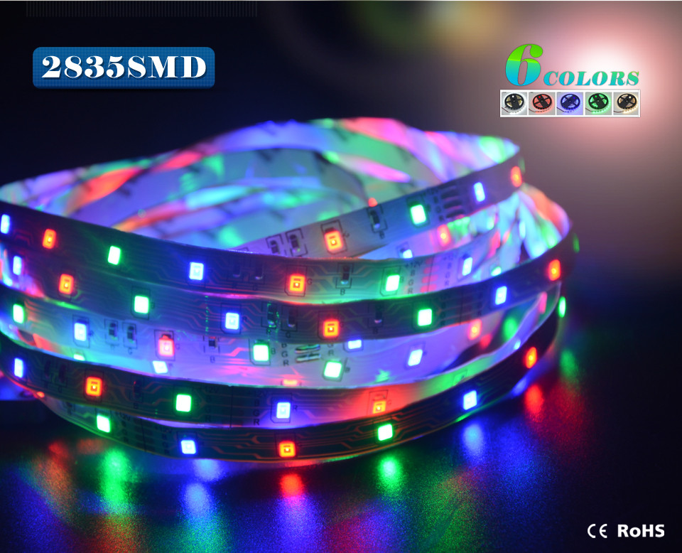 No Waterproof 5M 300leds RGB 2835 3528 SMD Led strip light 44key IR Controller DC12V 3A Adapter Power Home Indoor lamp