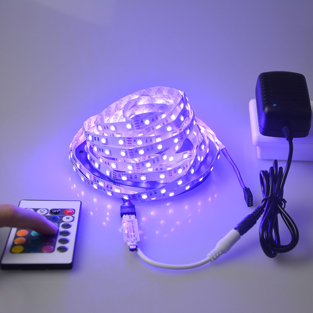 Waterproof 5050 Tape Light: No Waterproof 5M RGB LED Strip Tape Ribbon Light 5050 SMD