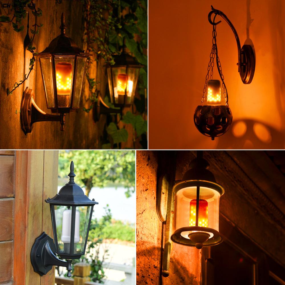 E27 110v 220v Fire Flame Led Bulb Fire Effect Lamp Novelty