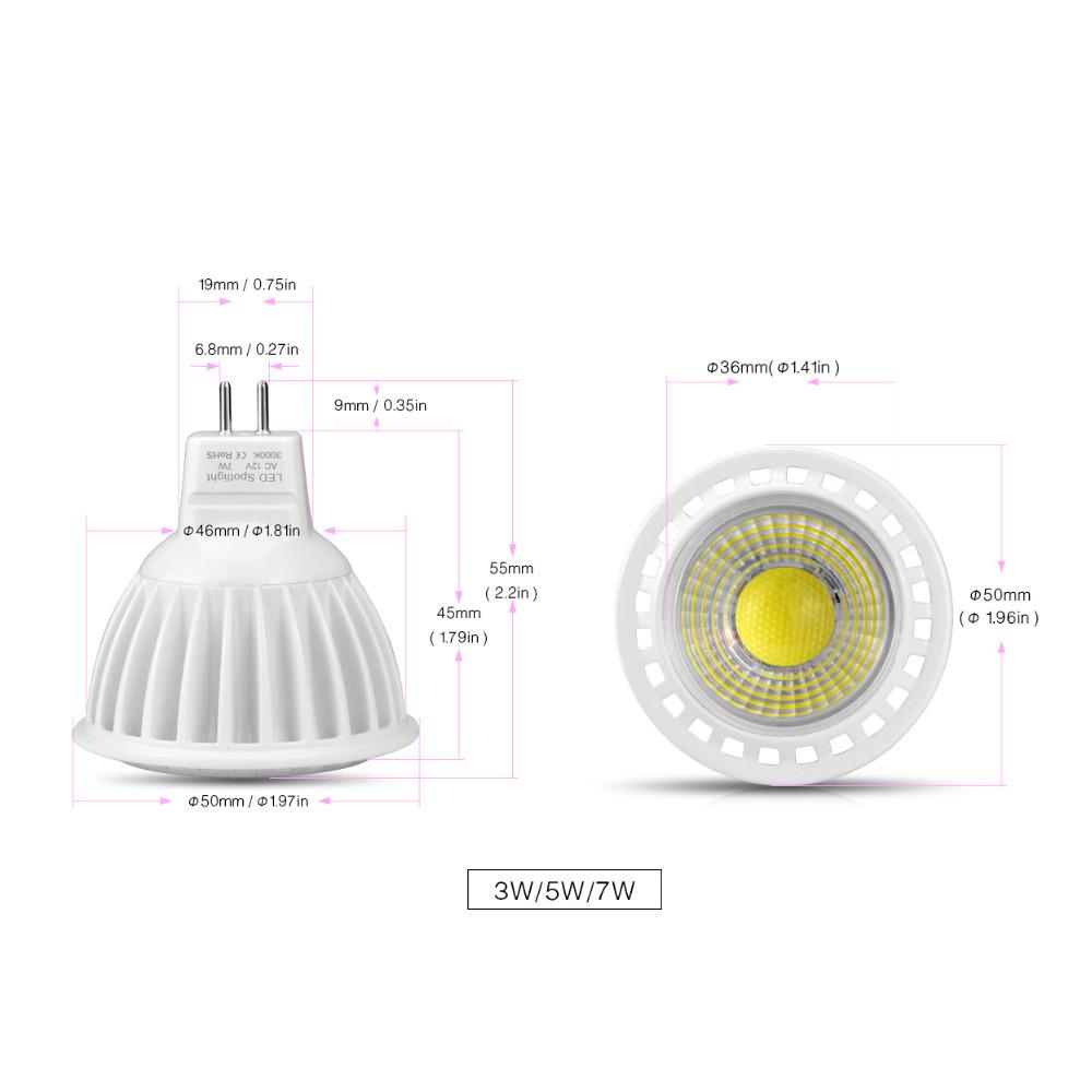 dimmable ac dc 12v mr16 cob led spotlight 3w 5w 7w led light led bulb led lamp indoor lighting. Black Bedroom Furniture Sets. Home Design Ideas