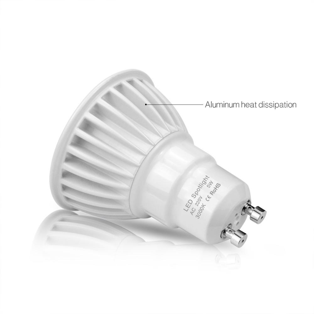 Gu10 3w 5w 7w Cob Led Bulb Spotlight 85 265v 220v 110v Led