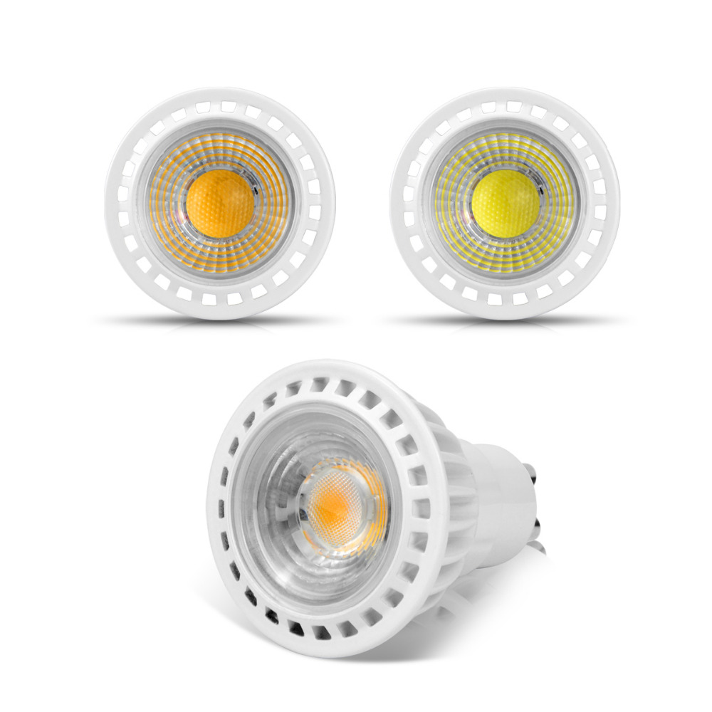 gu10 3w 5w 7w cob led bulb spotlight 85 265v 220v 110v led. Black Bedroom Furniture Sets. Home Design Ideas
