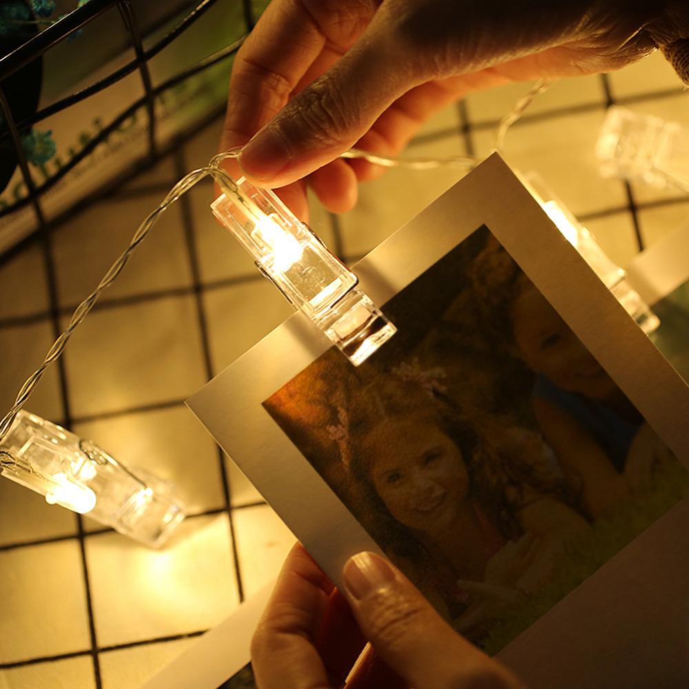 1m 2m Led String Light Photo Clip Holder Bulb Wedding Book