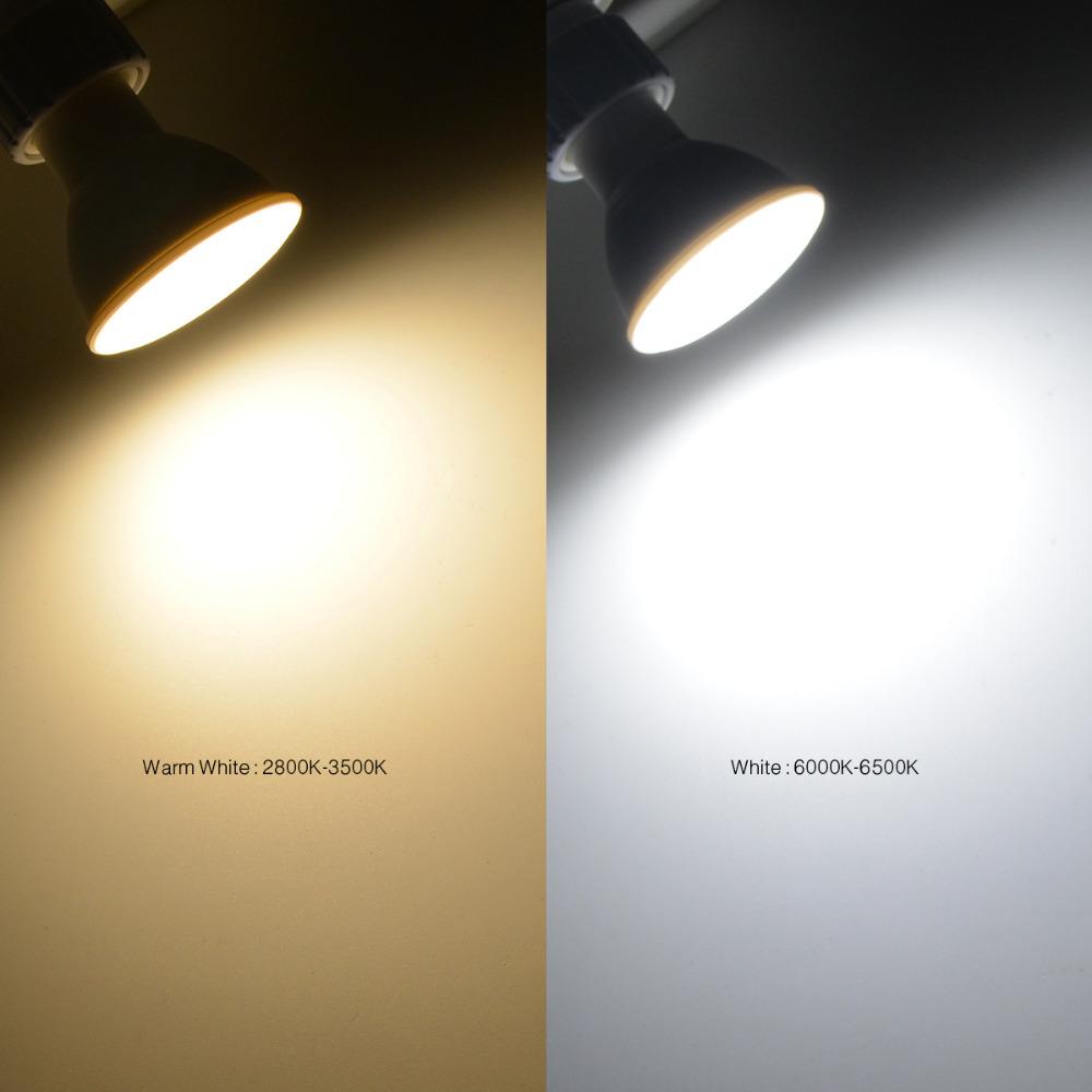Attirant 10Pcs GU10 MR16 220V LED Light 3W 4W 5W 7W LED Bulb Spotlight LED Lamp  Downlight Table Lamp Ceiling Bombillas Lamparas