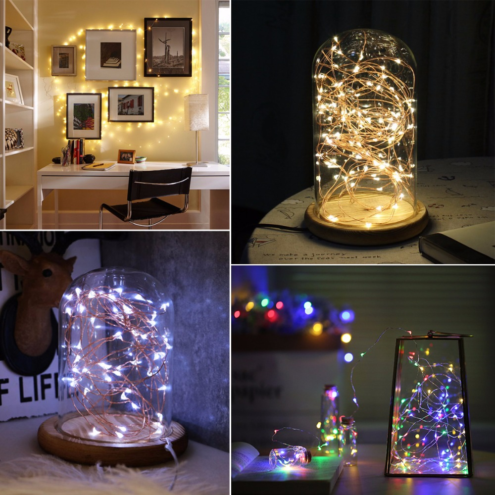 2m//5m//10m LED String Fairy Lights Battery//USB Power Waterproof Party Decor Lamp