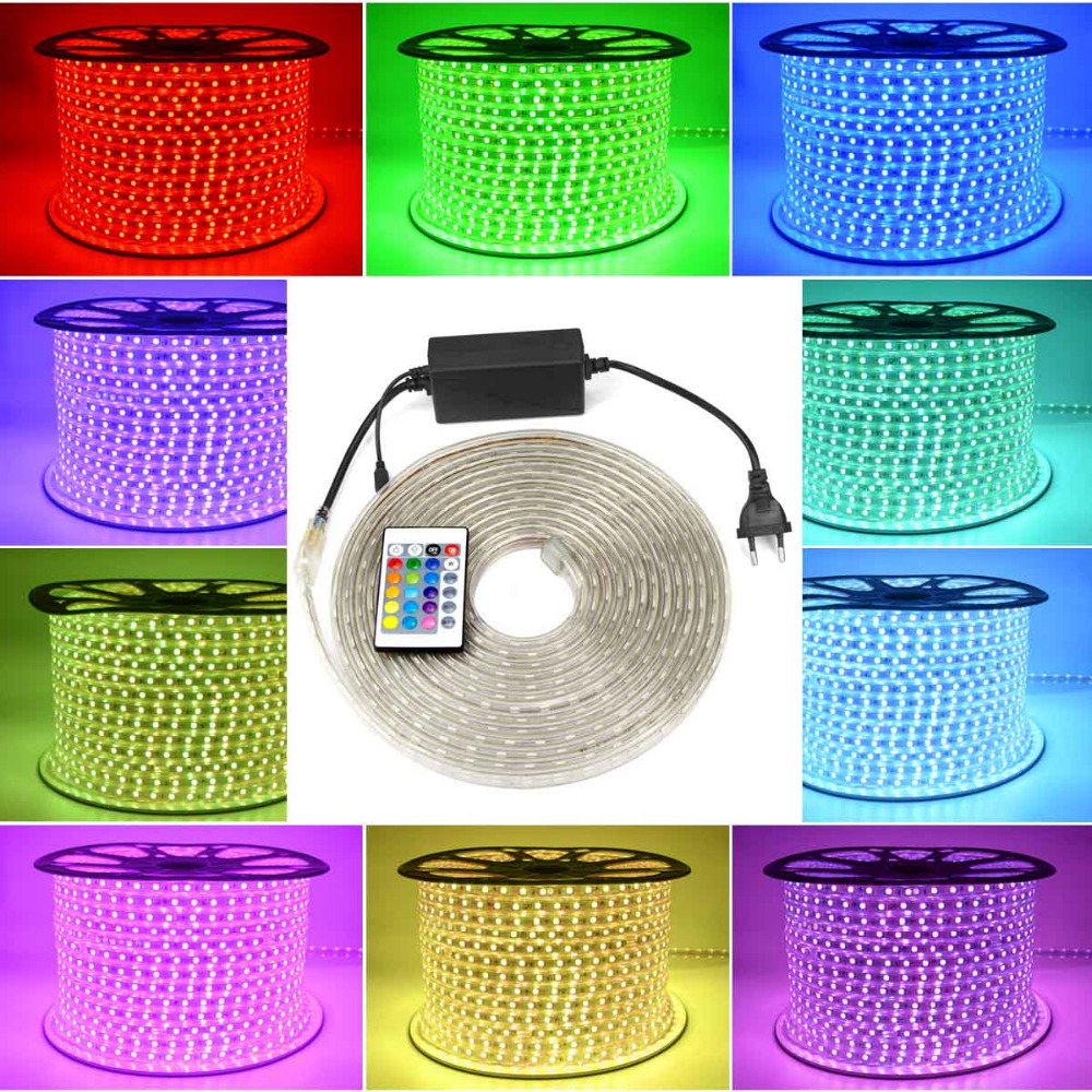 Dimmable Led String Light Waterproof 220v Rgb Led Strip