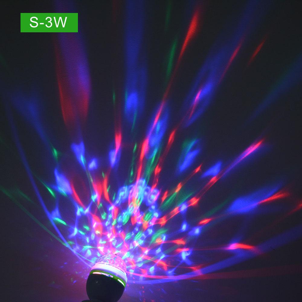 E27 Colorful Led Night Light Rgb Auto Rotating Stage Light