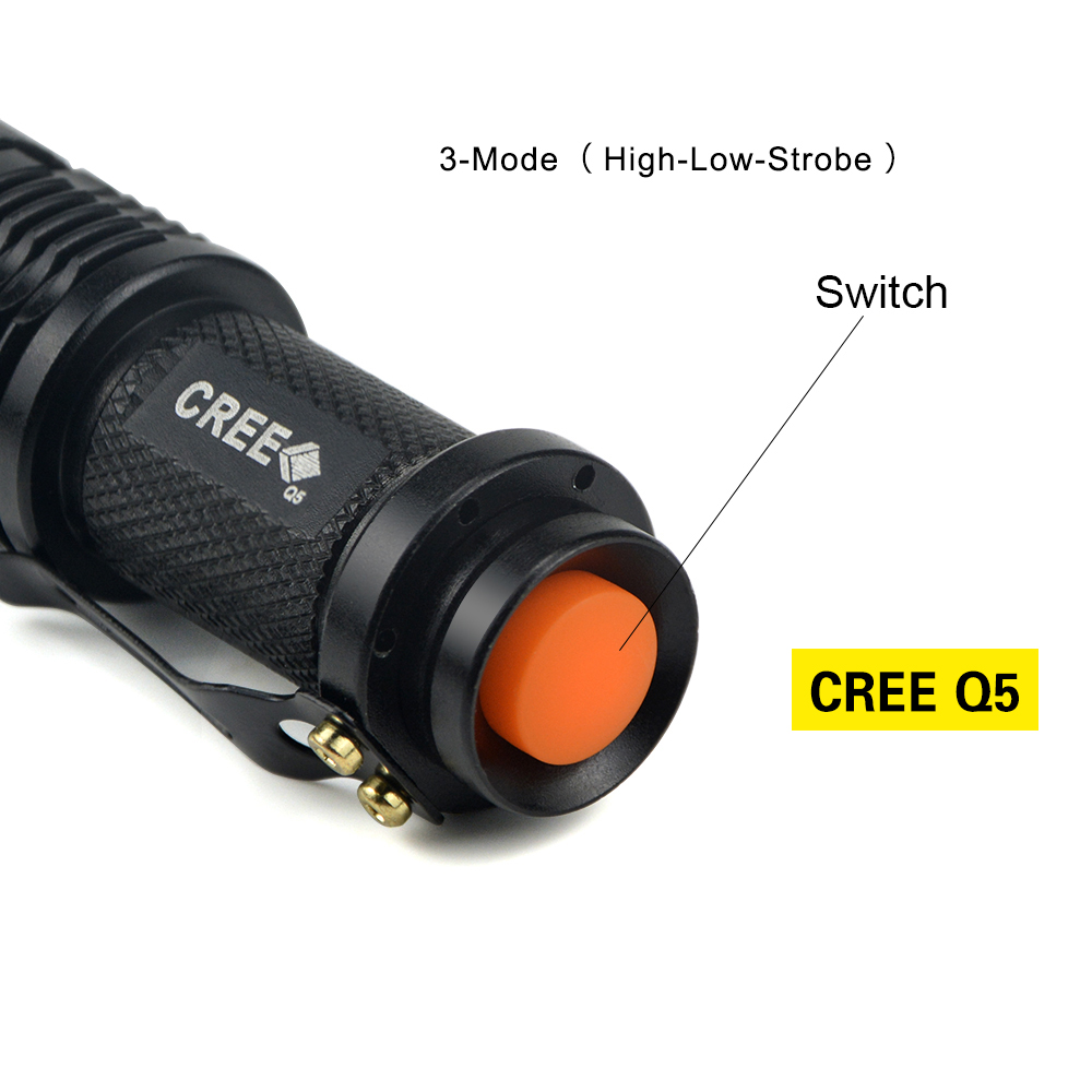 Waterproof CREE Q5 / XML T6 Aluminum LED Flashlight lanterna