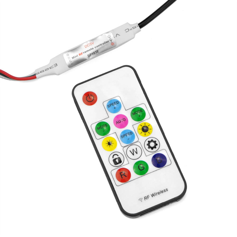 DC 5V WS2812B Addressable USB Charger adapter RGB USB LED