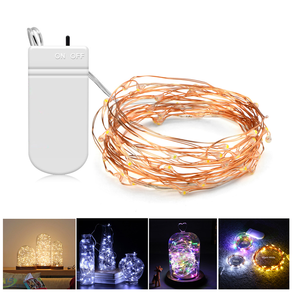 Led Night Light 2m 5m Desk Decoration Lamp Battery Wiring A With Operated String For Festival Wedding Holiday Home