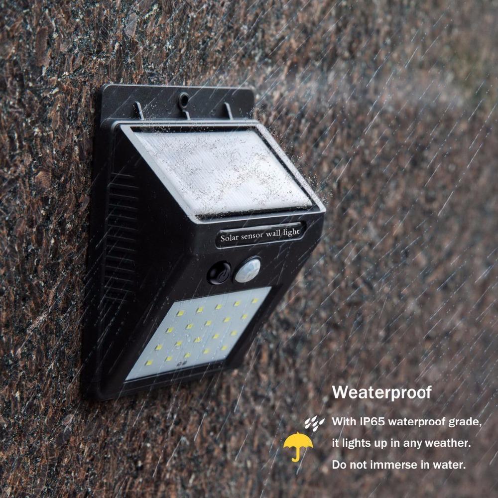 2pcs Waterproof 20leds Pir Motion Sensor Solar Light Solar