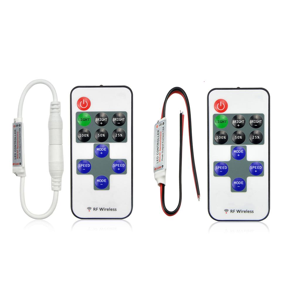 Dc 5v 24v 11key 24g Rf Wireless Led Strip Controller Switch Remote Control Light Dimmer For 3528 5050 Smd Single Color