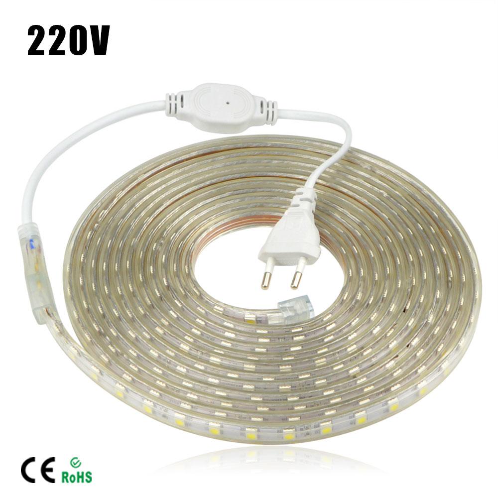 220v ip67 waterproof led string light smd 5050 eu power plug led strip light led tape 1 25m. Black Bedroom Furniture Sets. Home Design Ideas