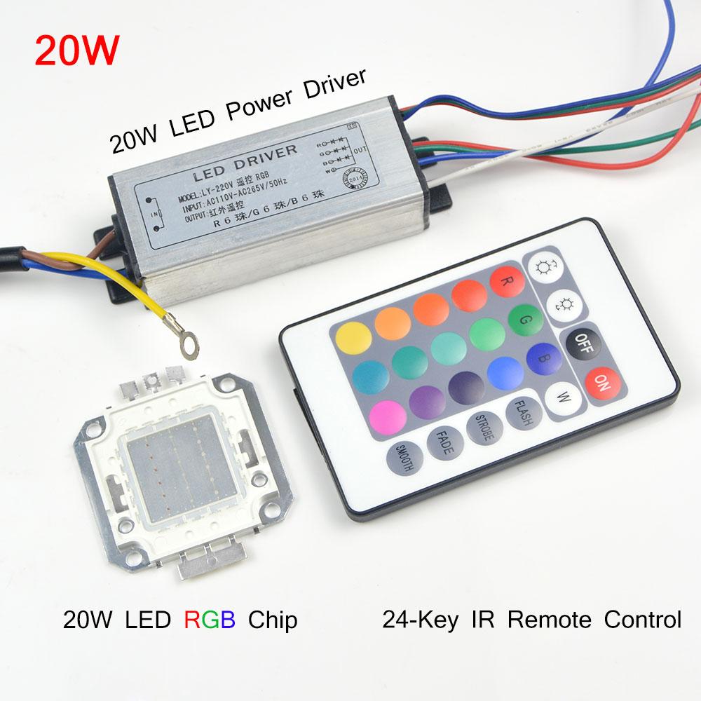 Rgb Integrated Cob Led Chip Led Bulb 10w 20w 30w 50w Rgb