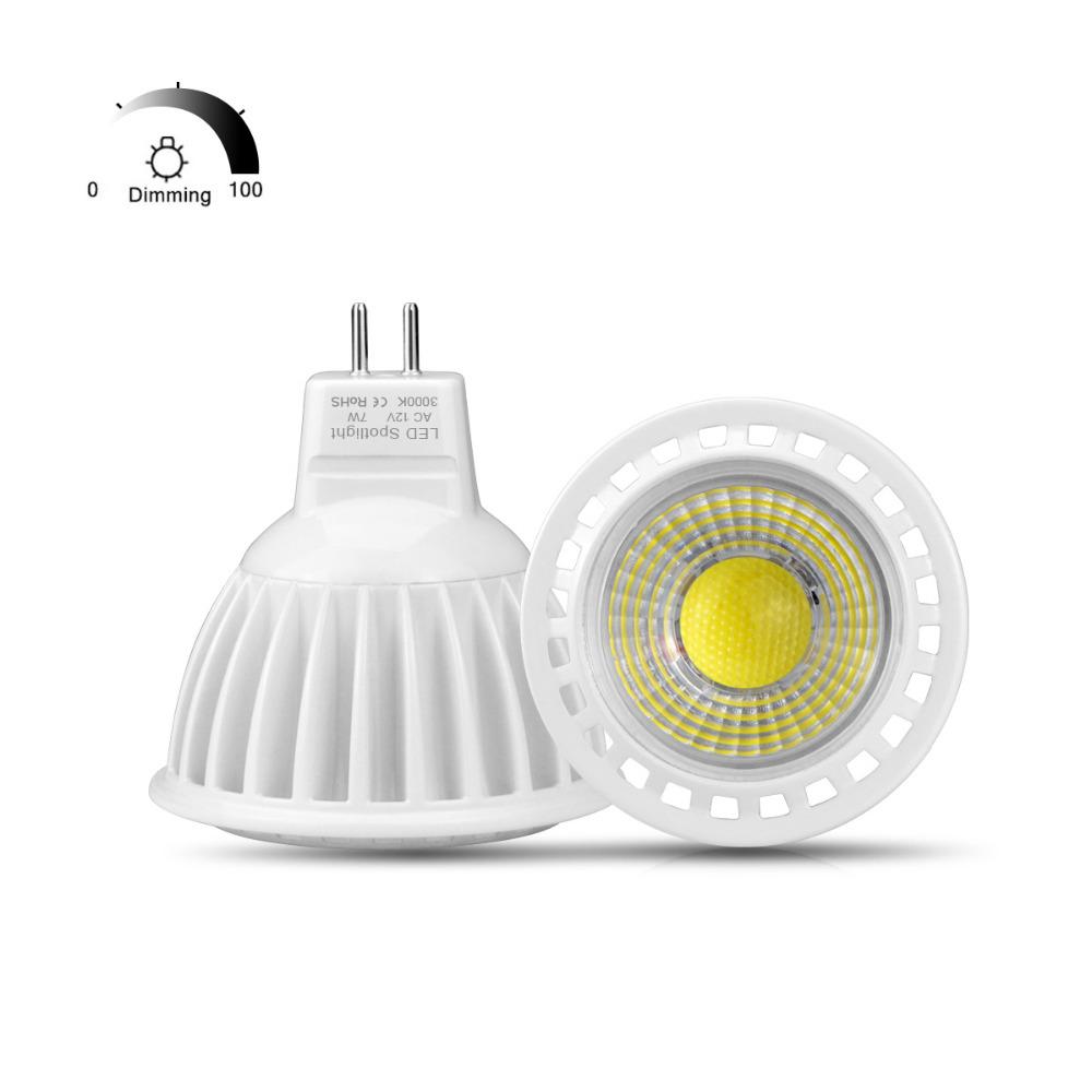 ac dc 12v dimmable mr16 led spot light bulb cob led lamp. Black Bedroom Furniture Sets. Home Design Ideas