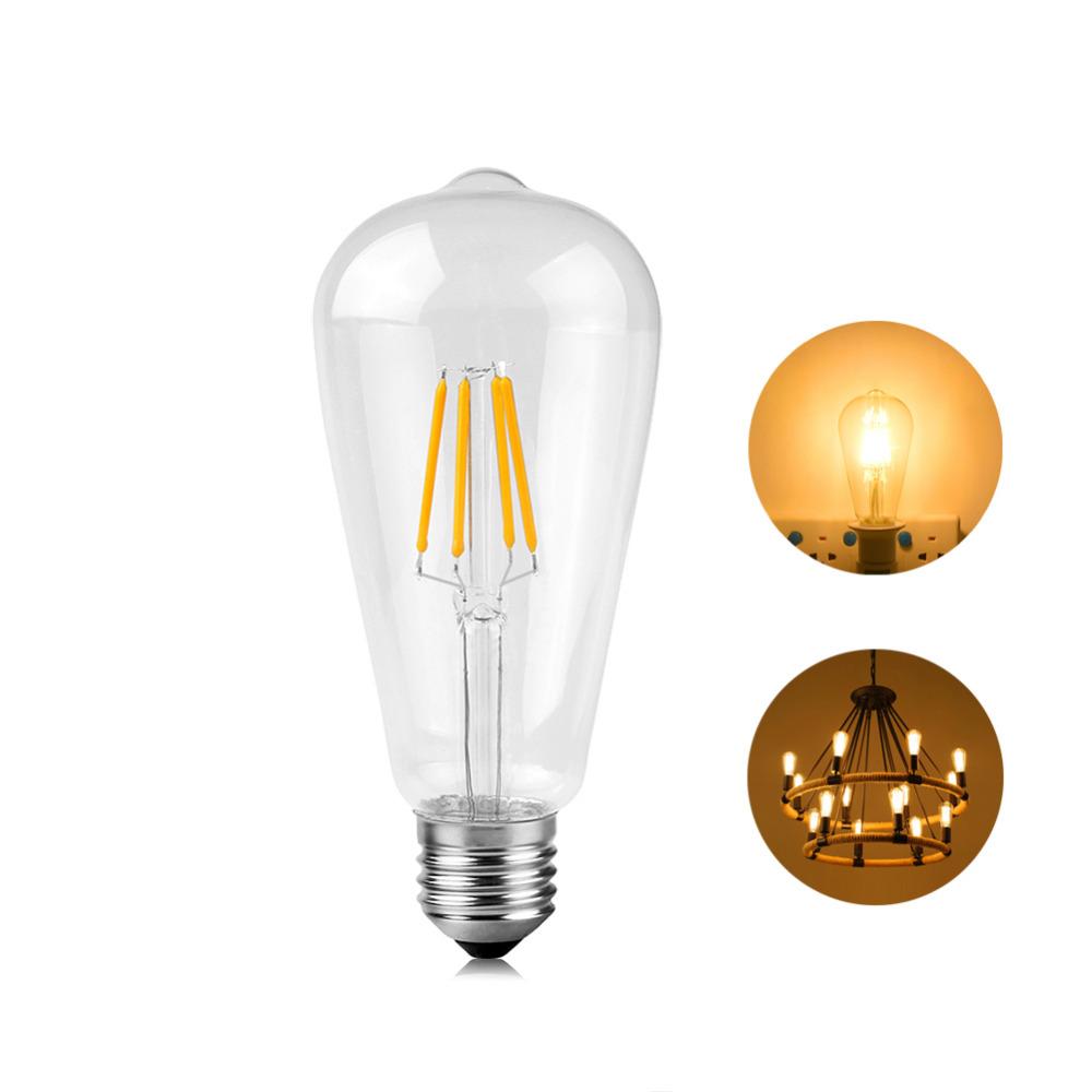 Retro E14 Edison Filament Bulb LED Light Candle//Flame Desk Lampada 110//220V 4//8W