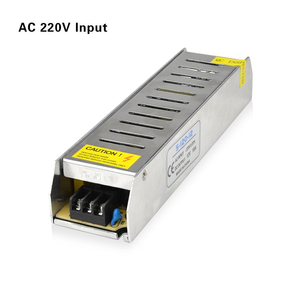 AC 220V To DC 12V 10A 120W Lighting Transformer LED Driver