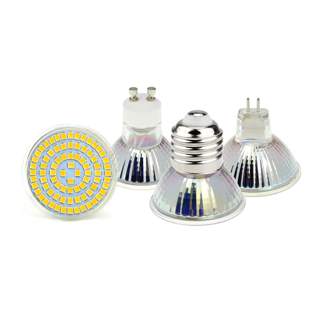 10pcs Ac 220v 5w 7w 9w Gu10 E27 Mr16 48leds 60 Leds 80leds Led Lamp Led Spotlight Bulb 2835 Smd