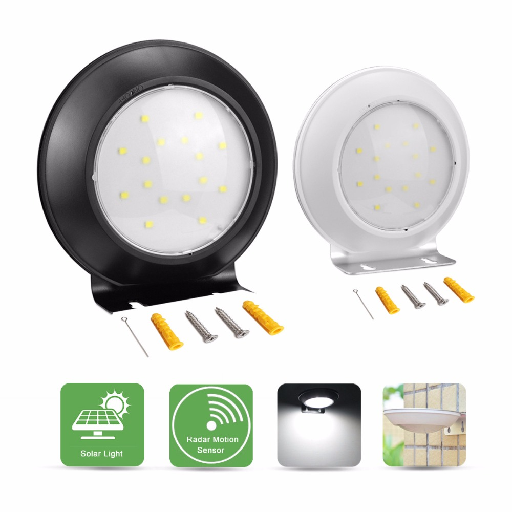 Led Senor Night Light Bulb Lamp Radar Motion Sensor Solar