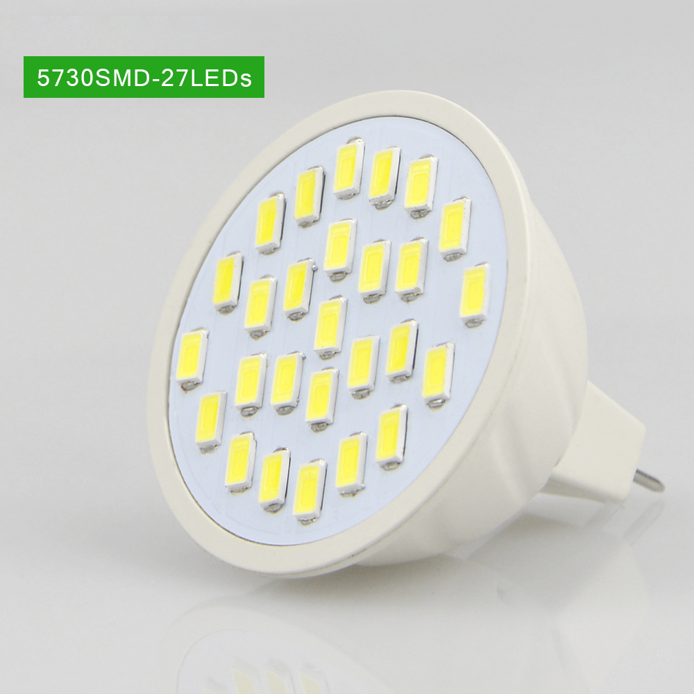 220v Mr16 Gu53 Led Lamp 2835 5730 Smd 27led 60led 80led Chip Putih Cold White 5w 32 34v Diy Spotlight Bulb For Spot Light Down Replace Cfl 4w 9w 10w