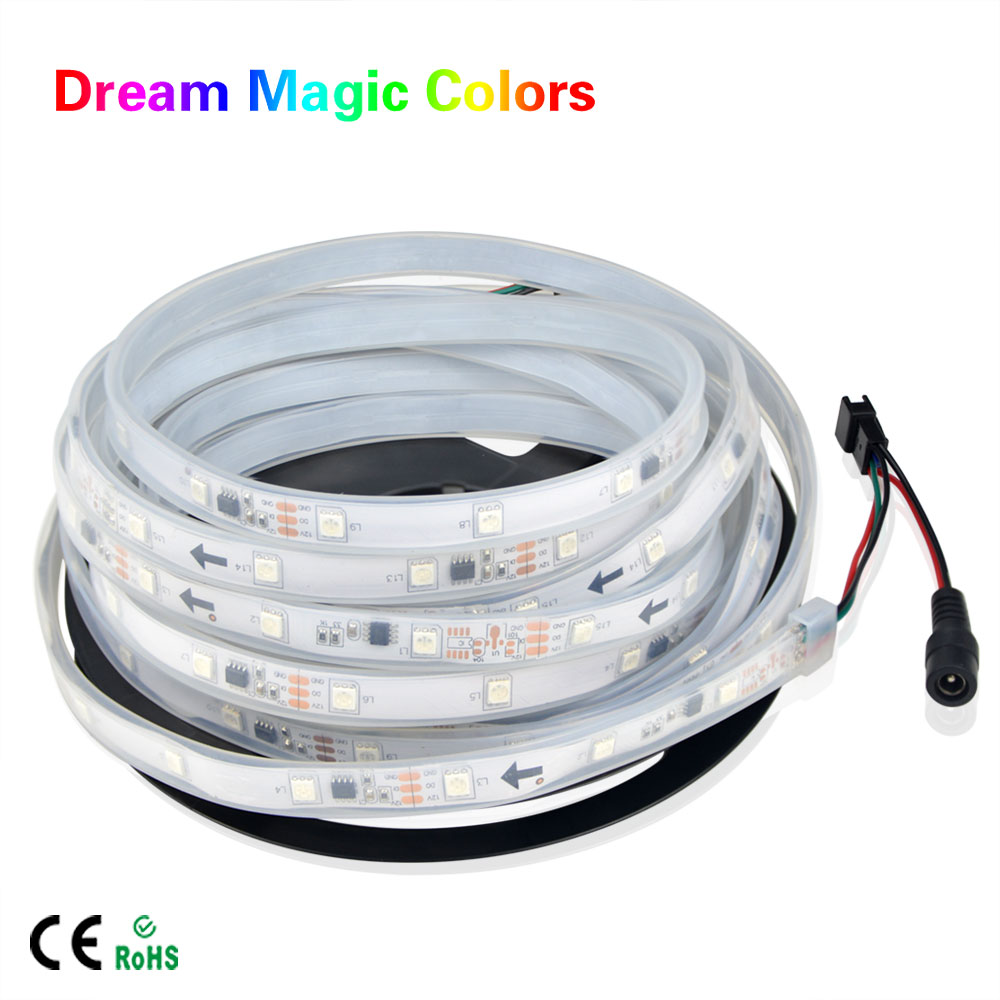 1903 IC 5m DC12V 5050 SMD RGB Tube Waterproof individually ...